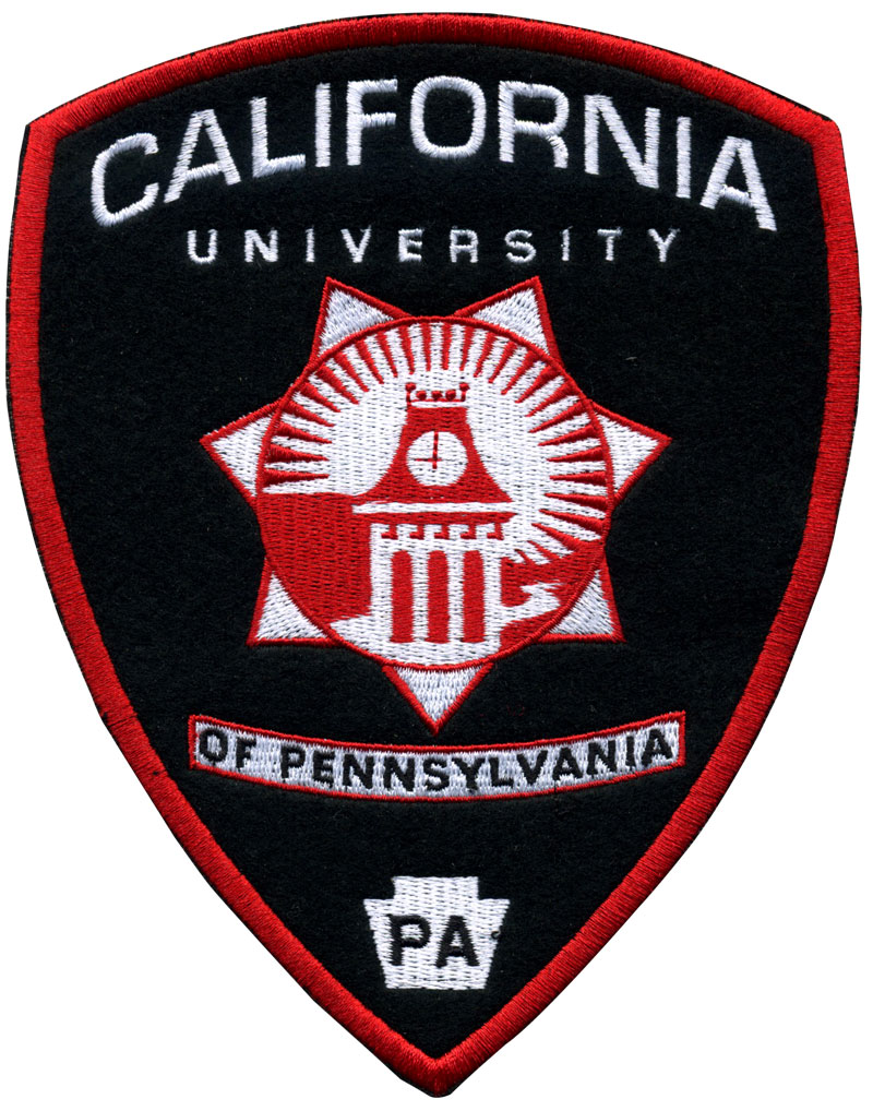 Patch brodé sur mesure pour California University of Pennsylvania
